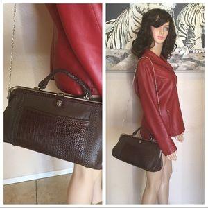 Britghton Leather handbag brown color size S